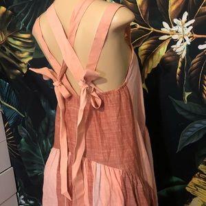 Free People stripper low cut back maxi dress